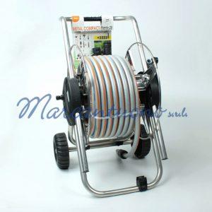 Avvolgitubo Metal compact con tubo da 25Mt