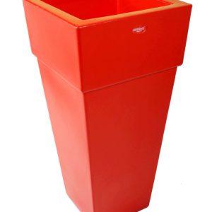 Vaso piramidale colore rosso fragola cod MA5CRF