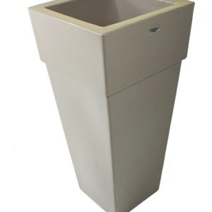 Vaso piramidale colore tortora cod MA5C78