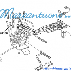 Connettore idraulico New Holland cod 5128338
