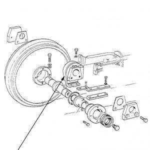 Supporto ruota tendicingolo New Holland cod 5111364