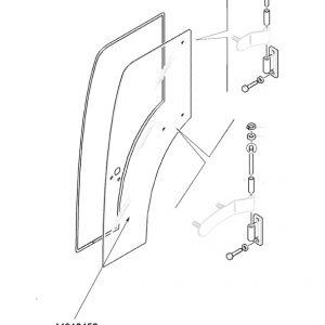 Vetro porta destra New Holland cod 44910452