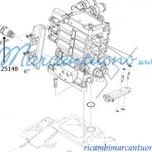 Connettore idraulico New Holland cod 47125148