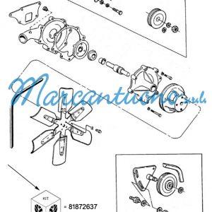 Kit riparazione pompa New Holland cod 81872637