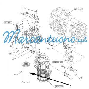 Filtro olio idraulico New Holland cod 84226263