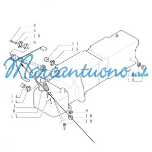 Indicatore combustibile New Holland cod 82023182