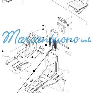 Ammortizzatore a gas sedile New Holland cod 47124487