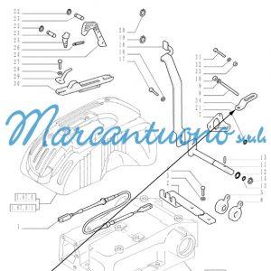 Piastra comandi esterni sollevatore idraulico New Holland cod 44912417