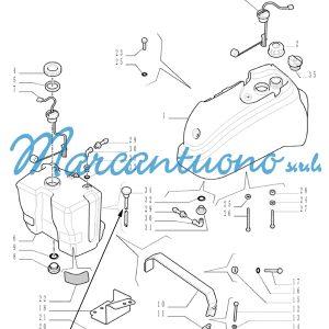 Tubo rigido serbatoio New Holland cod 44912473