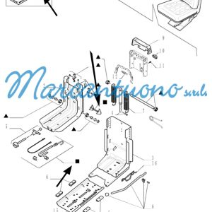 Verricello sedile New Holland cod 47124490