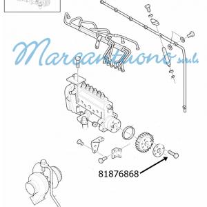 Blocco piastra pompa iniezione New Holland - cod 81876868