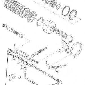 Fermo per valvola idraulica freni New Holland cod 81866165