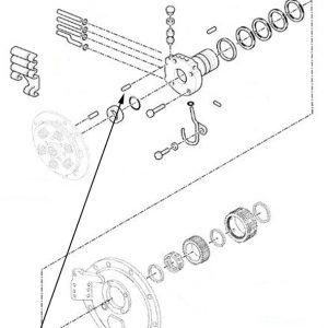 Perno scanalato collettore New Holland cod 81867453