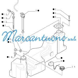 Serbatoio carburante New Holland cod 87595197