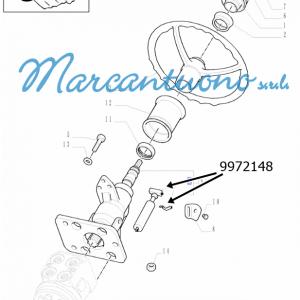 Ammort. a gas piantone sterzo regolab. New Holland -cod 9972148