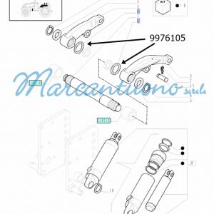 Anello bracci di sollevamento idraulico New Holland -cod 9976105