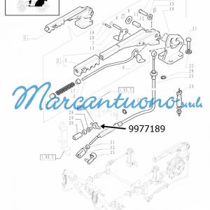 Bilanciere comando freno a mano cavo flessibile New Holland - cod 9977189