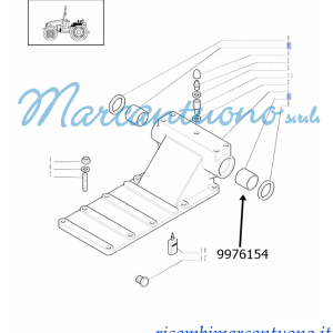 Boccola sollevatore idraulico New Holland cod 9976154