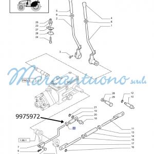 Dado comando meccanico sollevat. New Holland -cod 9975972