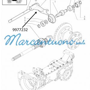Forcella trasmissione a 16 marce New Holland - cod 9977232