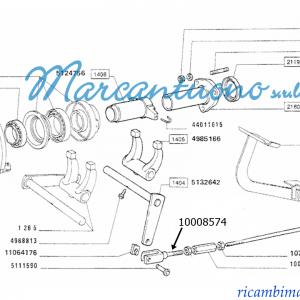 Forcella trasmissione cambio e leve New Holland - cod 10008574