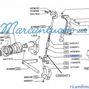 Forcella trasmissione cambio e leve New Holland - cod 10009471