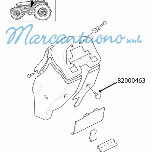 Manopola rivestimento console New Holland -cod 82000463