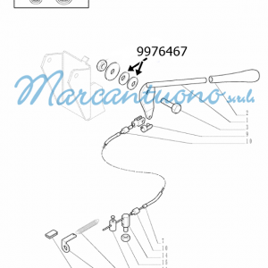 Molla comando a mano acceleratore New Holland -cod 9976467