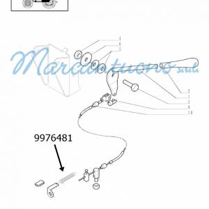 Molla comando a mano acceleratore new Holland -cod 9976481