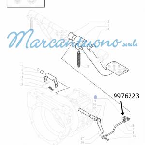 Perno comandi pedali frizione New Holland cod 9976223