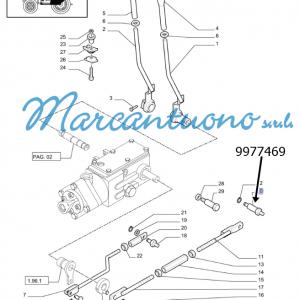 Perno comando meccanico sollevatore leve e tiranteria New Holland - cod 9977469