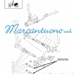 Perno comando meccanico sollevatore (sforzo,posizione e mix) New Holland - cod 9976791
