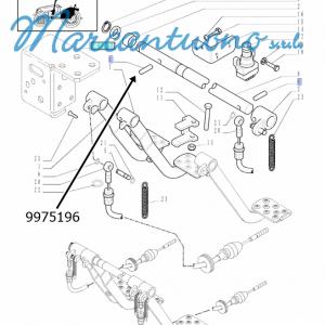 Perno di guida pedali comando freni New Holland - cod 9975196