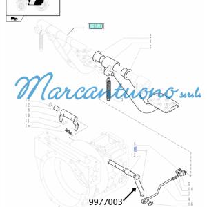 Perno pedali comando frizione e relativi leverismi New Holland - cod 9977003