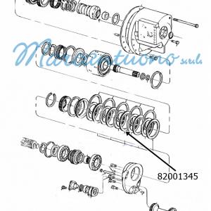 Piastra trasmissione potenza doppia New Holland -cod 82001345