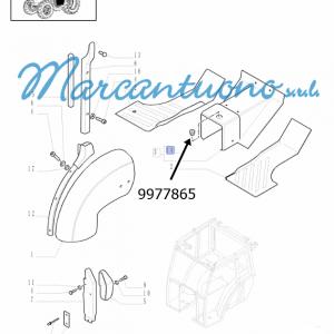 Tappo rivestimenti e parafanghi posteriore con cabina New Holland - cod 9977865