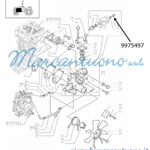 Trasmettitore supporto e termostato /ventola New Holland -cod 9975497