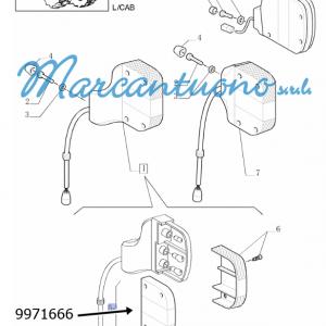 Trasparente fanale post. New Holland -cod 9971666