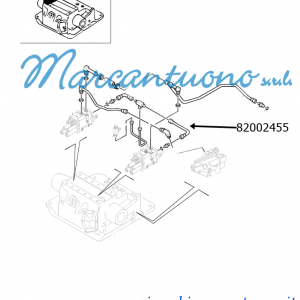 Tubo rigido 76 mm OD 162.5 51.5 mm Length distributori sollev. New Holland -cod 82002455