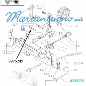 Vite RH M10X20 comando freni New Holland -cod 9975249
