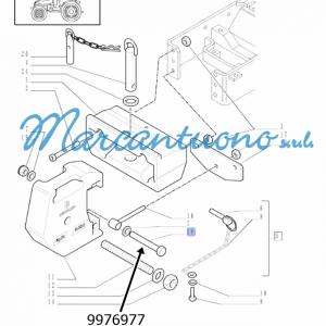 Vite supporto anteriore porta zavorre New Holland - cod 9976977