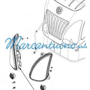 Faro anteriore destro New Holland cod 87693345