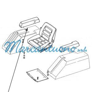 Bracciolo destro per trattore cingolato Fiat New Holland cod 5148724