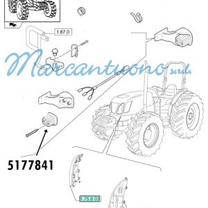 Proiettore anteriore New Holland - cod 5177841