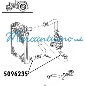 Tubo radiatore New Holland - cod 5096235