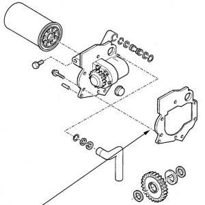 Guarnizione pompa idraulica New Holland cod 83961380