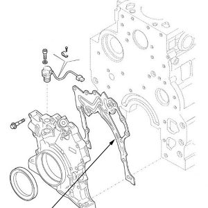 Guarnizione pompa olio motore New Holland cod 2830972
