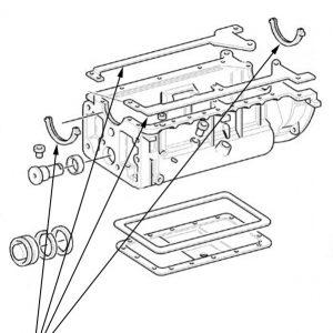 Serie guarnizioni motore New Holland cod 1940143