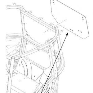Vetro posteriore New Holland cod 84396387