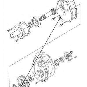 Coperchio anteriore trasmissione New Holland cod K3660623141